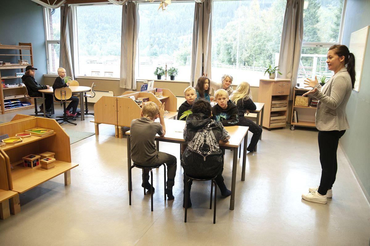 Kommunestyret i Vefsn vedtok i mars å legge ned Elsfjord skole. Sp-ordføreren var én av dem som stemte for. Fem måneder senere hilste elevene og lærer Ida Helen Svenning Fredriksen ved Elsfjord montessoriskole på hverandre for første gang.