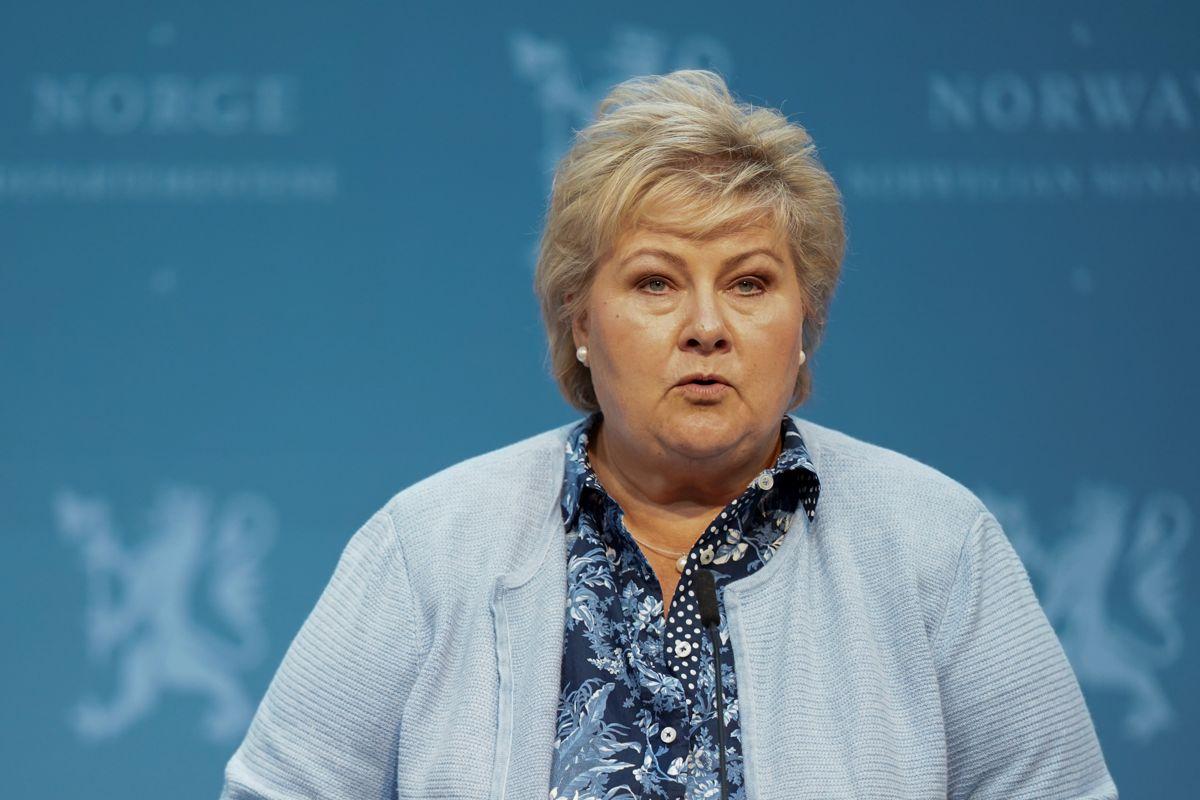 Det blir ikke noe trinn 4, sier statsminister Erna Solberg (H) på en pressekonferanse torsdag.