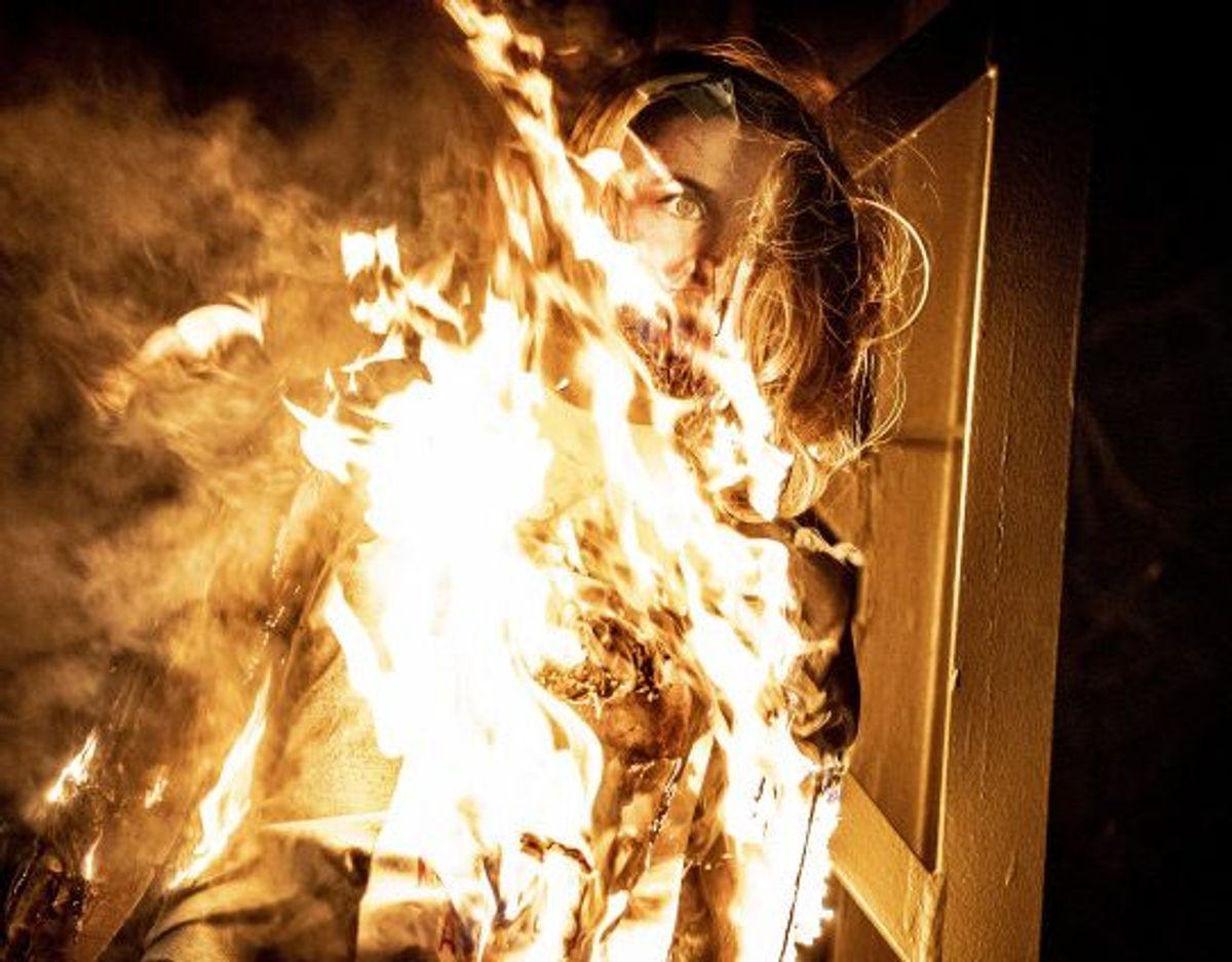 """Afbrændingen af dukken """"hører ingen steder hjemme"""", mener flere politikere. Foto: Mads Claus Rasmussen/Scanpix"""