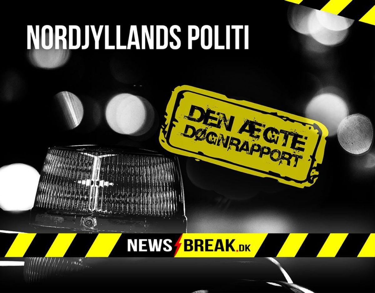 Uddraget af døgnrapporten er udsendt af Nordjyllands Politi. Foto: Ritzau Scanpix/Creazone.dk