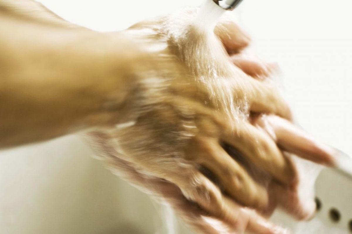 Vask hænder, når du har rørt ved råt kød. Kilde: Fødevarestyrelsen. Arkivfoto.