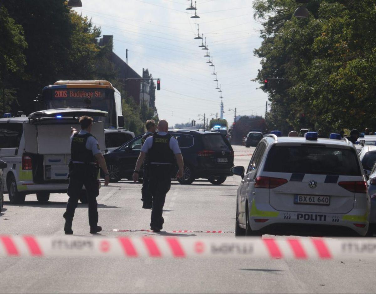 Et område blev afspærret efter drabet. Foto: Presse-fotos.dk.