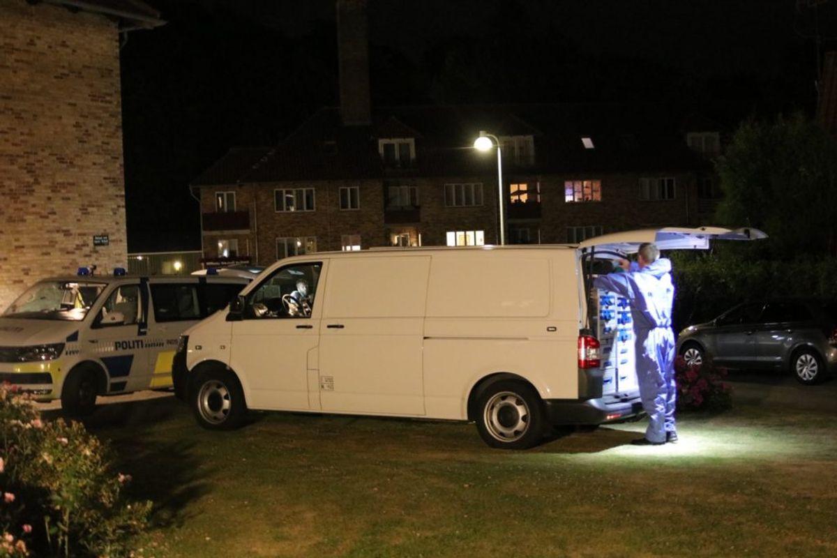 Politiet fandt kvinden død i parrets lejlighed i Birkerød. Foto: Presse-fotos.dk