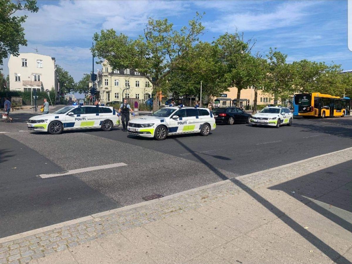Det var her på Lyngby Station knivstikkeriet fandt sted. Foto: Presse-fotos.dk.