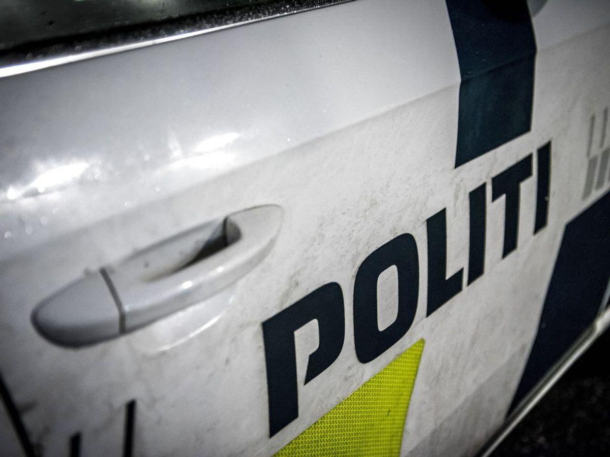 Politiet er lige nu til stede ved Horsens Sygehus. (Foto: Mads Claus Rasmussen/Ritzau Scanpix)