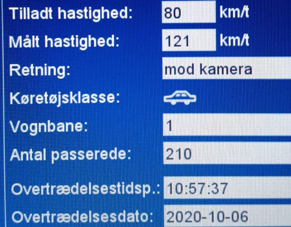 Én vej i det sønderjyske har store problemer med fartglade bilister. Foto: Syd- og Sønderjyllands Politi.
