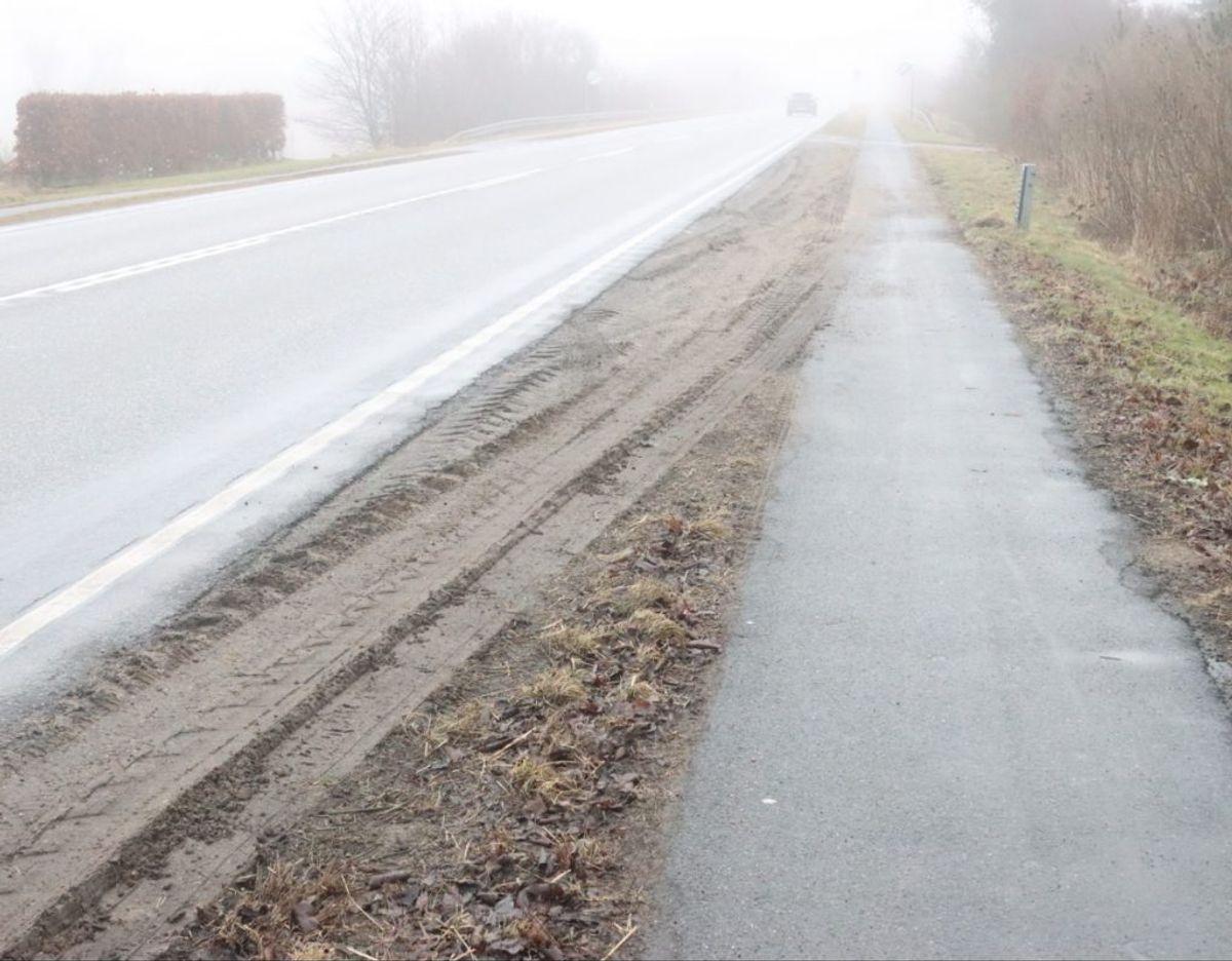Det var her på Aalborgvej i Vesløs i Thy ulykken skete. Foto: Øxenholt Foto.