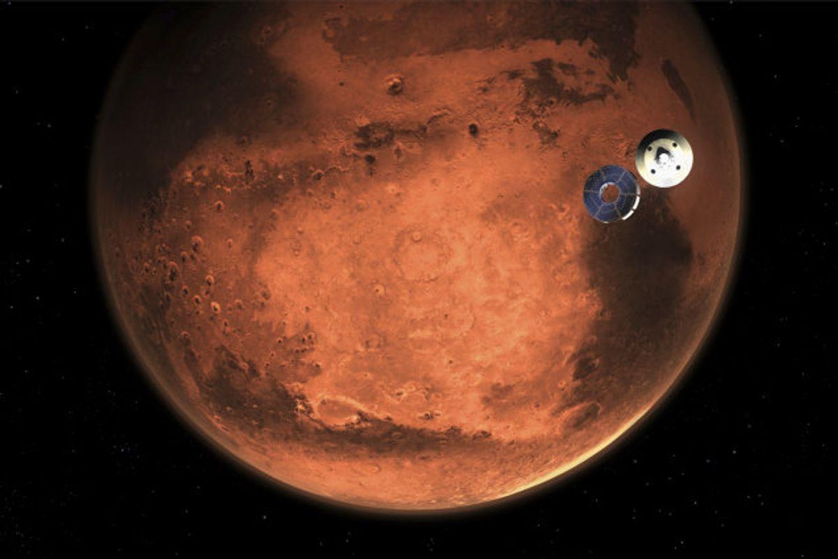 Gennemsnitstemperaturen er minus 63 grader celsius på Mars. (illustration). Foto: Uncredited/Scanpix