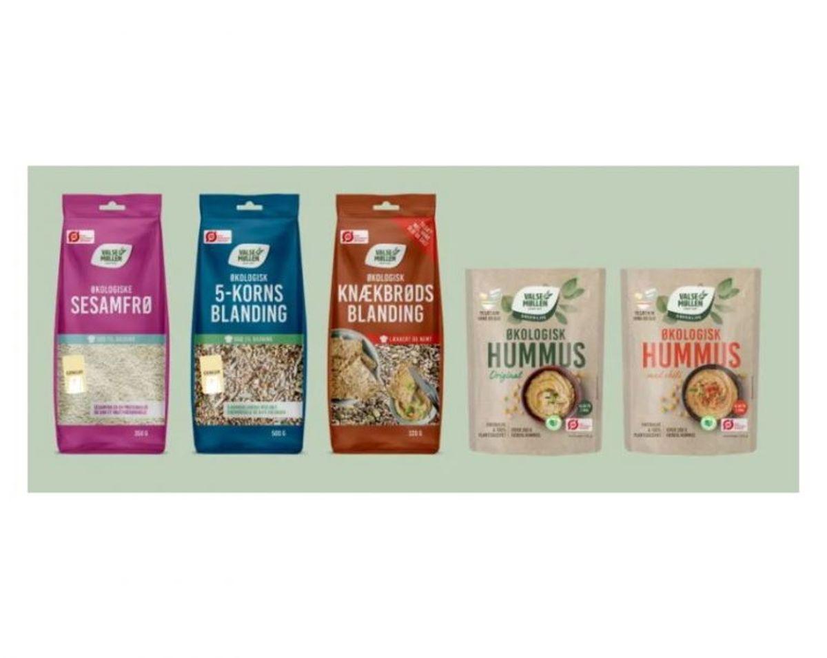 Valsemøllen-produkter. Foto: Fødevarestyrelsen