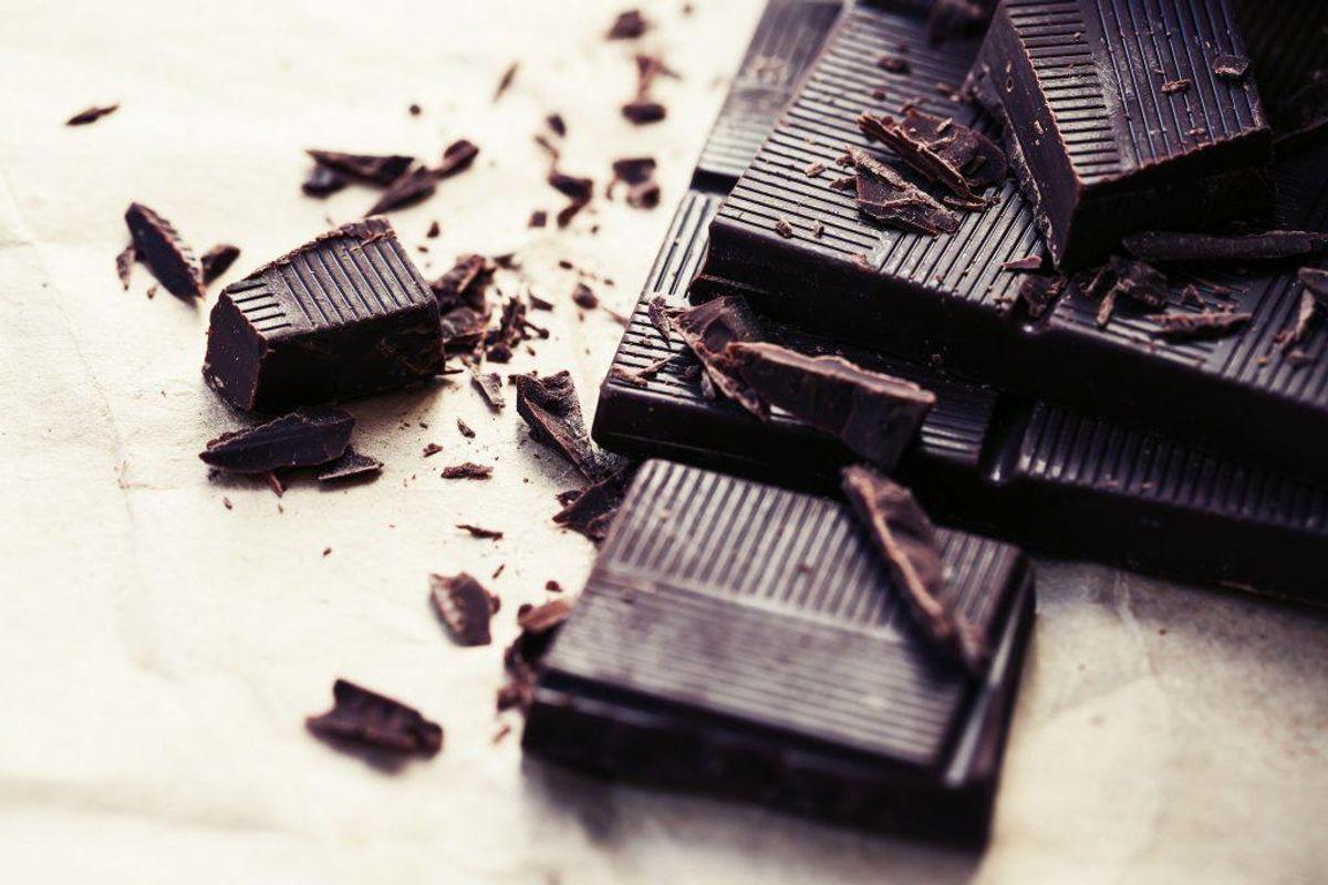 Mørk chokolade: Hunde kan ikke tåle chokolade, og jo højere indhold af kakao, des giftigere er det. Kan give opkast, diarré og påvirke nervesystemet. Foto: Scanpix
