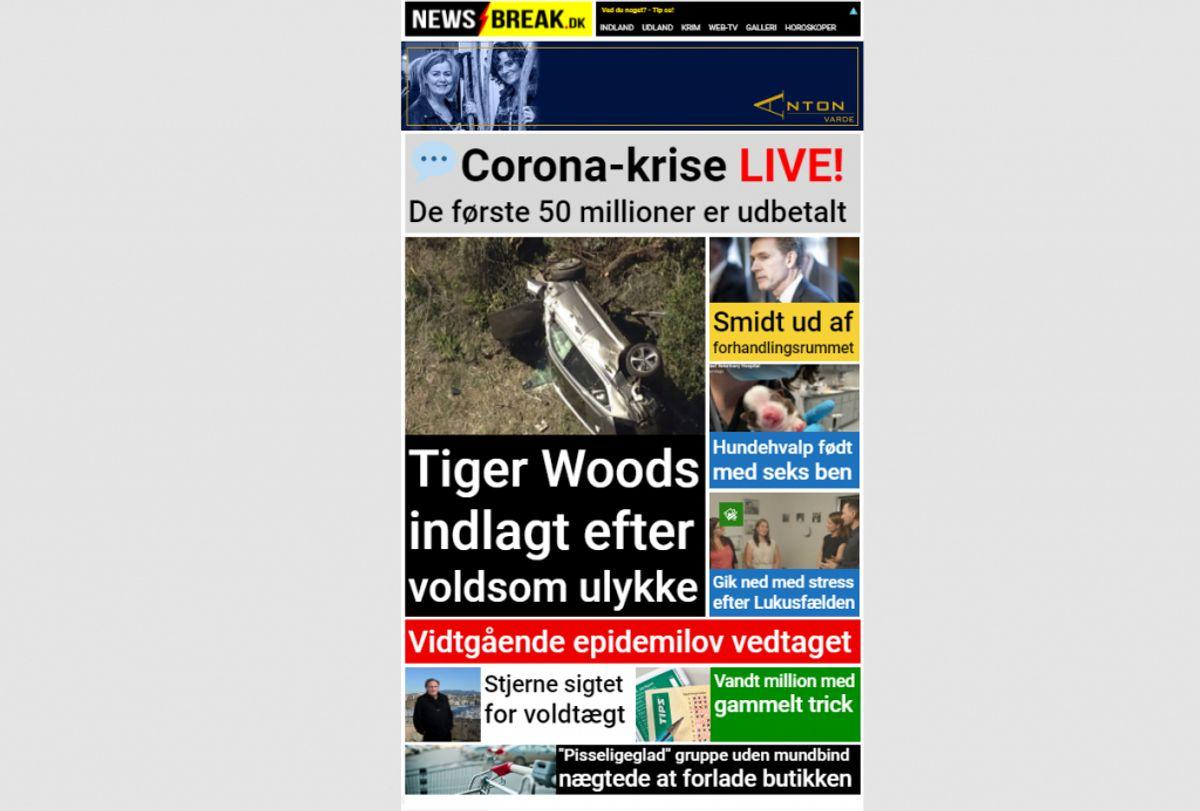 Newsbreak.dk er nu oppe at køre igen. Foto: Newsbreak.dk.