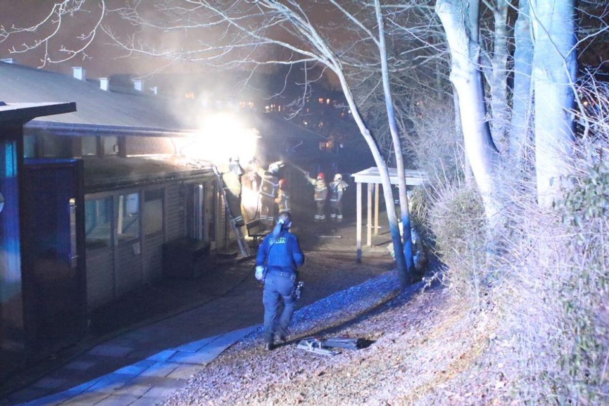 Her brand i institution på Tagensvej. Klik for billeder fra alle brande. Foto: Presse-fotos.dk