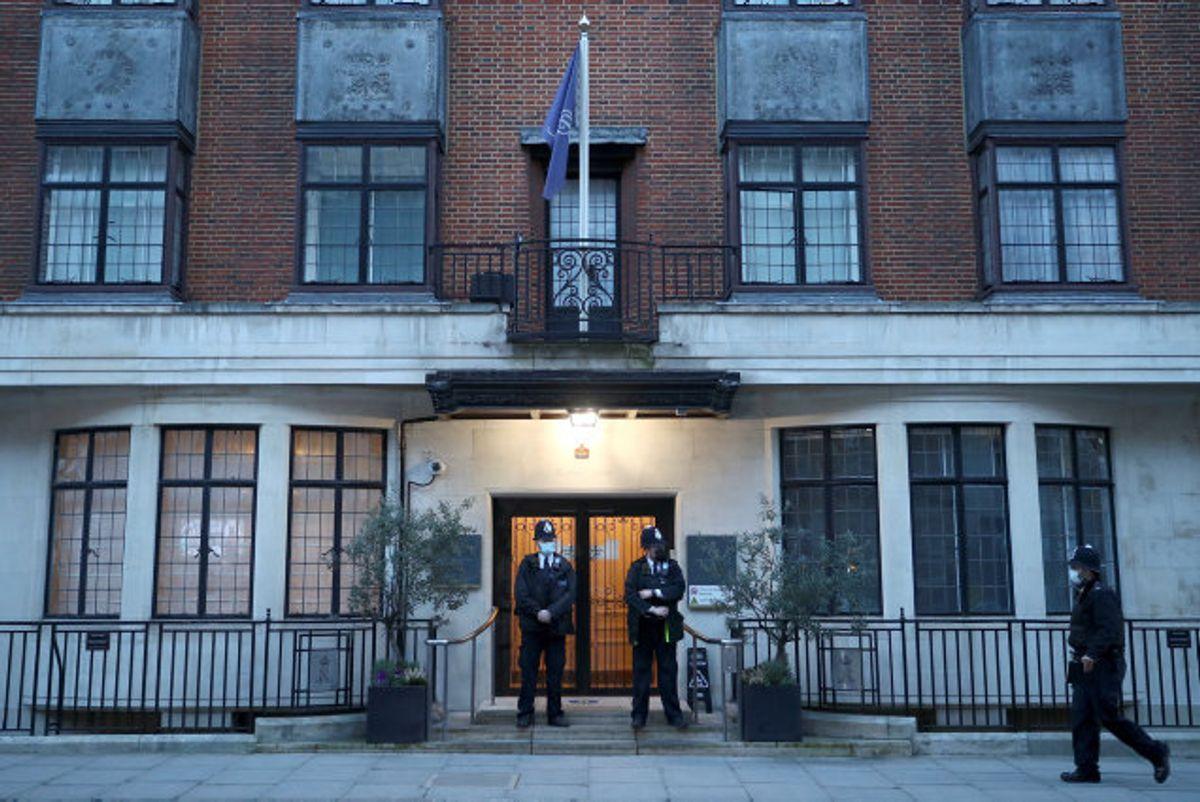 Rpins Philip er indlagt på King Edward VII-hospitalet i London. Foto: Hannah Mckay/Reuters