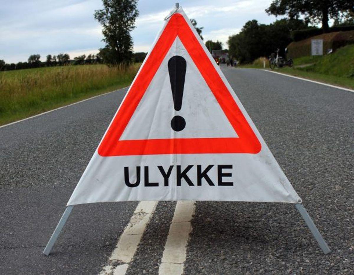 Vejen er spærret. Arkivfoto: Elo Christoffersen