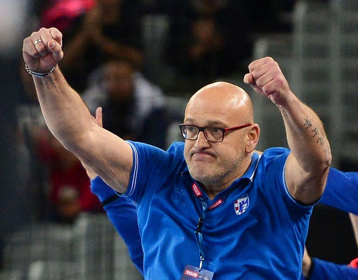 Håndboldtræneren Zlatko Saračević døde kort tid efter, hans hold havde vundet en kamp. Foto: Marko Prpic/PIXSELL/Ritzau Scanpix.