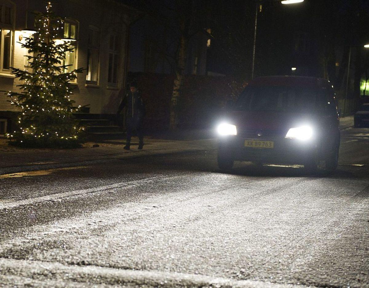 DMI advarer mod, at vejene kan blive rimglatte. Foto: Scanpix