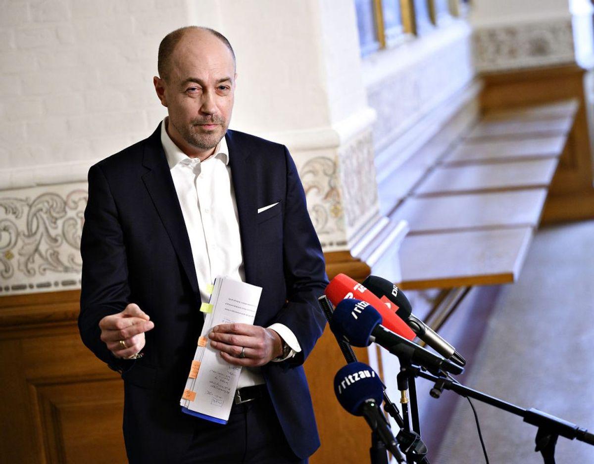 Sundhedsminister Magnus Heunicke (S) siger, han ikke vil holde Danmark lukket længere end nødvendigt. Foto: Scanpix