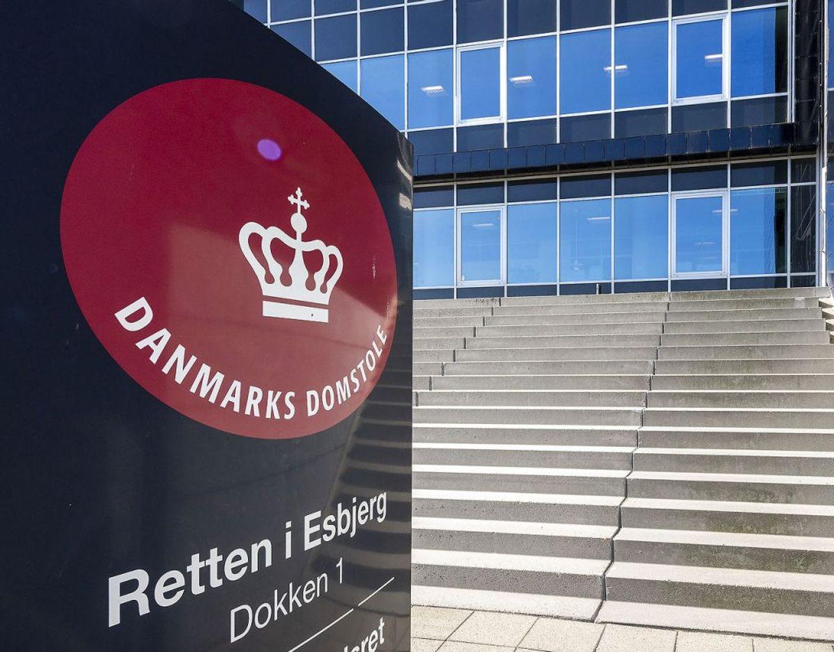 Den 71-årige mand med motorsaven blev dømt ved Retten i Esbjerg. Foto: John Randeris/ Ritzau/Scanpix