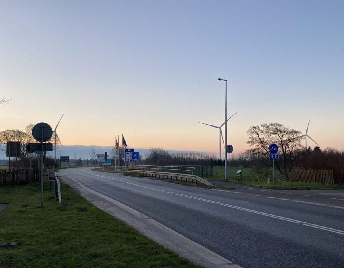 Sæd grænseovergang, klokken 8.40 en fredag i januar – her var ingen kontrol med indrejsen. Foto: Nicklas Skyum Clausen