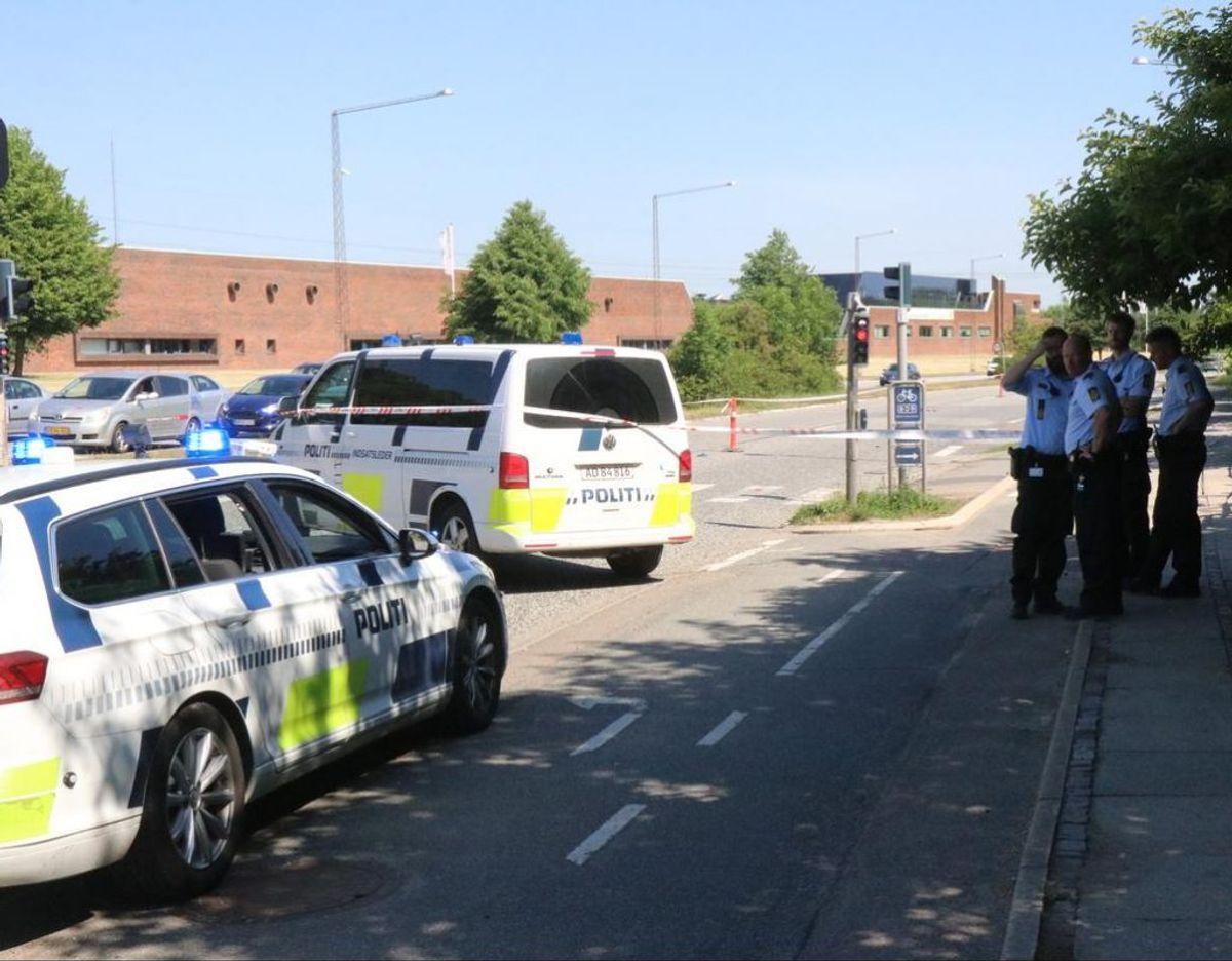Østjylland Politi snuppede onsdag 56 i en trafikkontrol. Siden oktober er 996 røget i fælden. Foto: Øxenholt Foto.