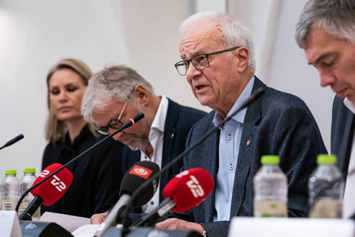 Statsrevisoreren Henrik Thorup (DF) taler til pressemøde. Foto: Niels Christian Vilmann/Scanpix