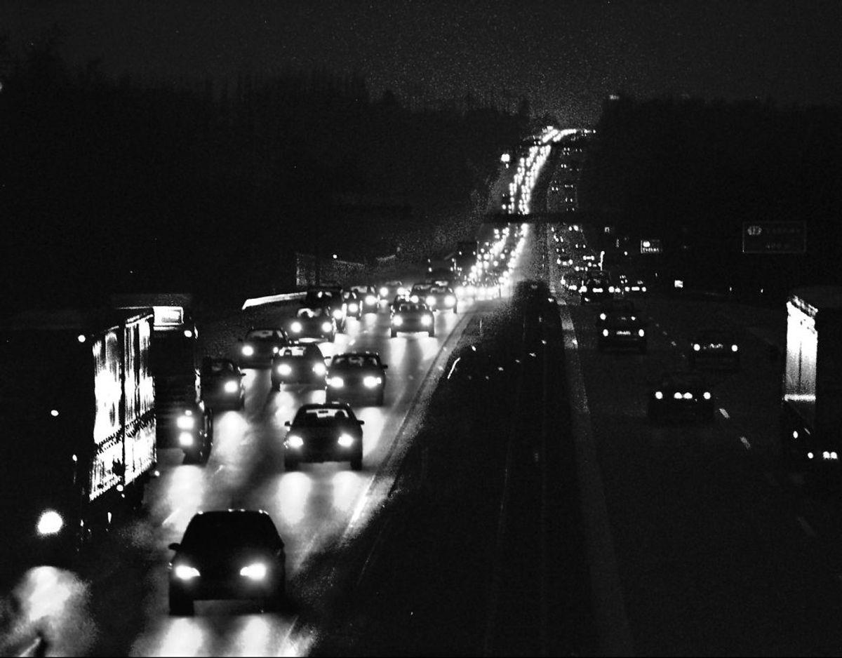 Kø på Holbækmotorvejen. Foto: Ritzau Scanpix