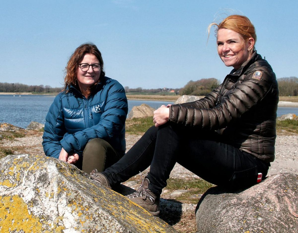 Pernille Roth ses her sammen med Inger Støjberg. Foto: Niels Henrik Dam/Ritzau Scanpix