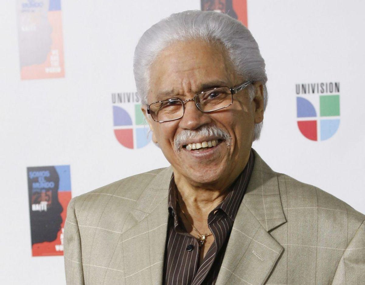 Den dominikansk fødte salsa legende Johnny Pacheco døde mandag den 15. februar efter at have været indlagt med lungebetændelse. Han blev 85 år gammel. Foto: Scanpix/AP Photo/Wilfredo Lee,