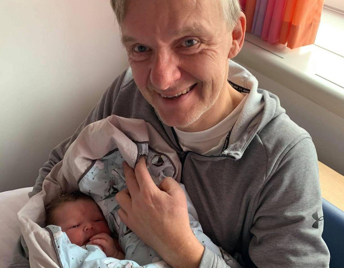 Poul Madsen er blevet far til en pige. Privatfoto.