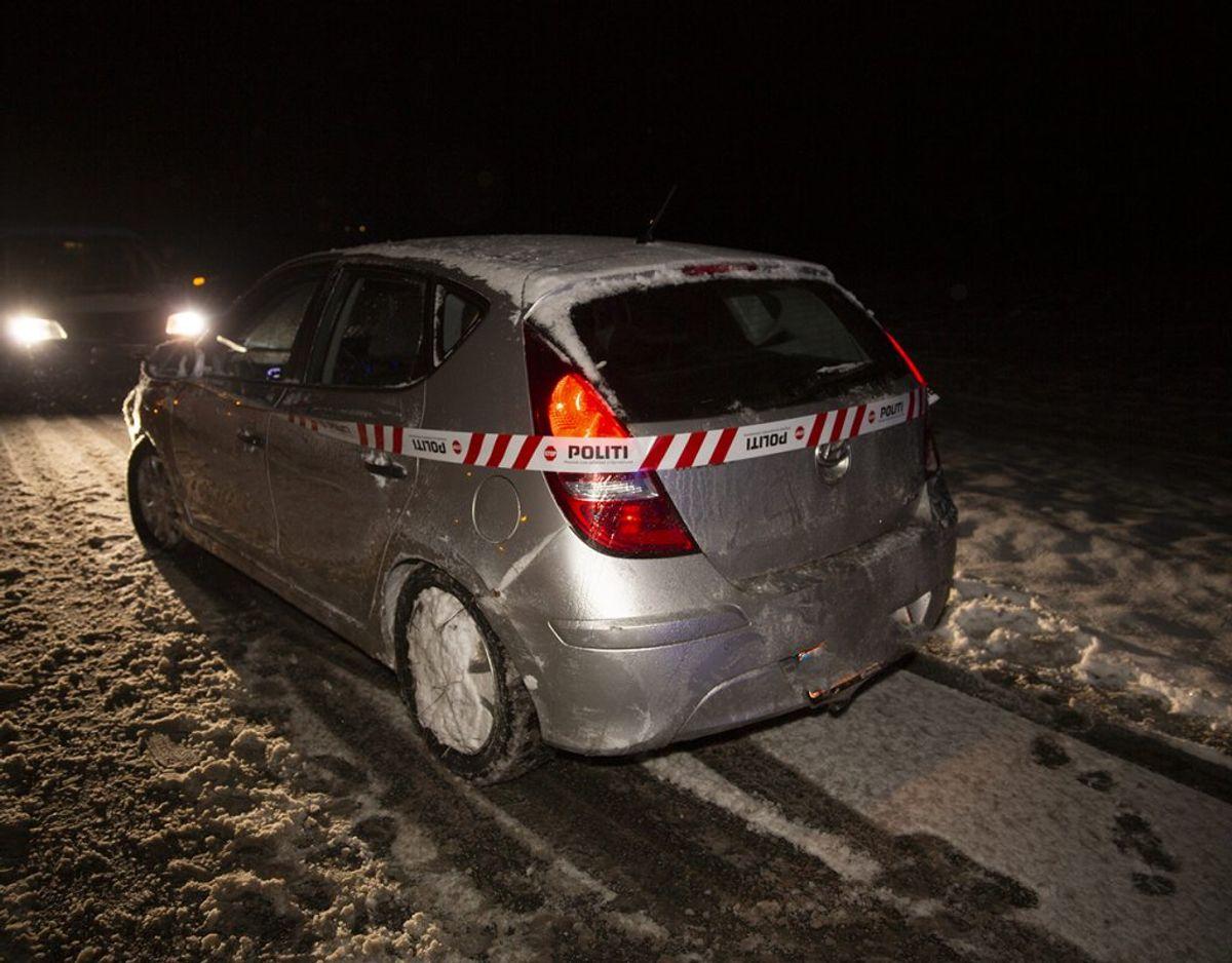 To gange på en time har politi og redning rykket ud til uheld på Tingvejen ved Grindsted. KLIK FOR FLERE BILLEDER FRA STEDET. Foto: René Lind Gammelmark