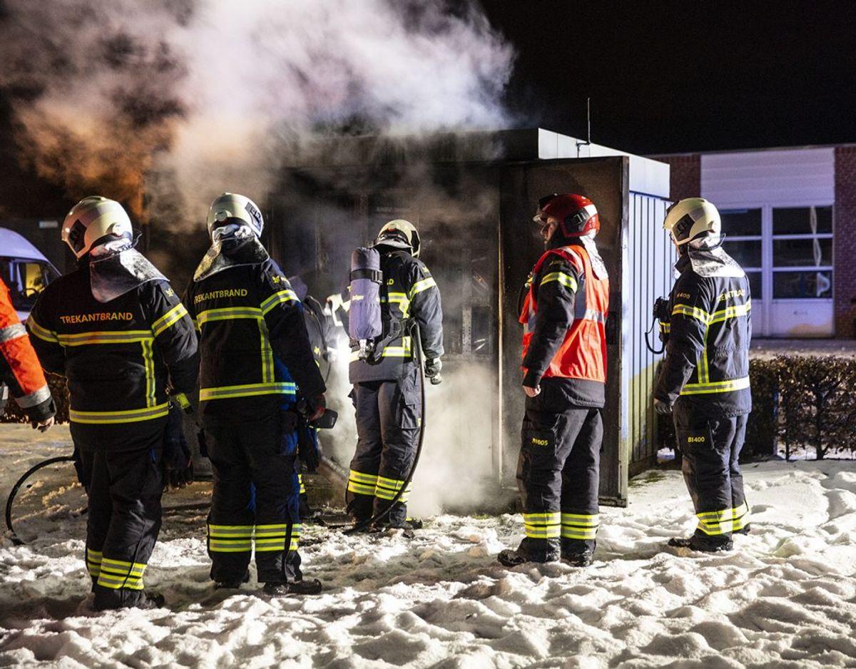 Der var godt gang i branden, da brandfolkene nåede frem. Foto: René Lind Gammelmark