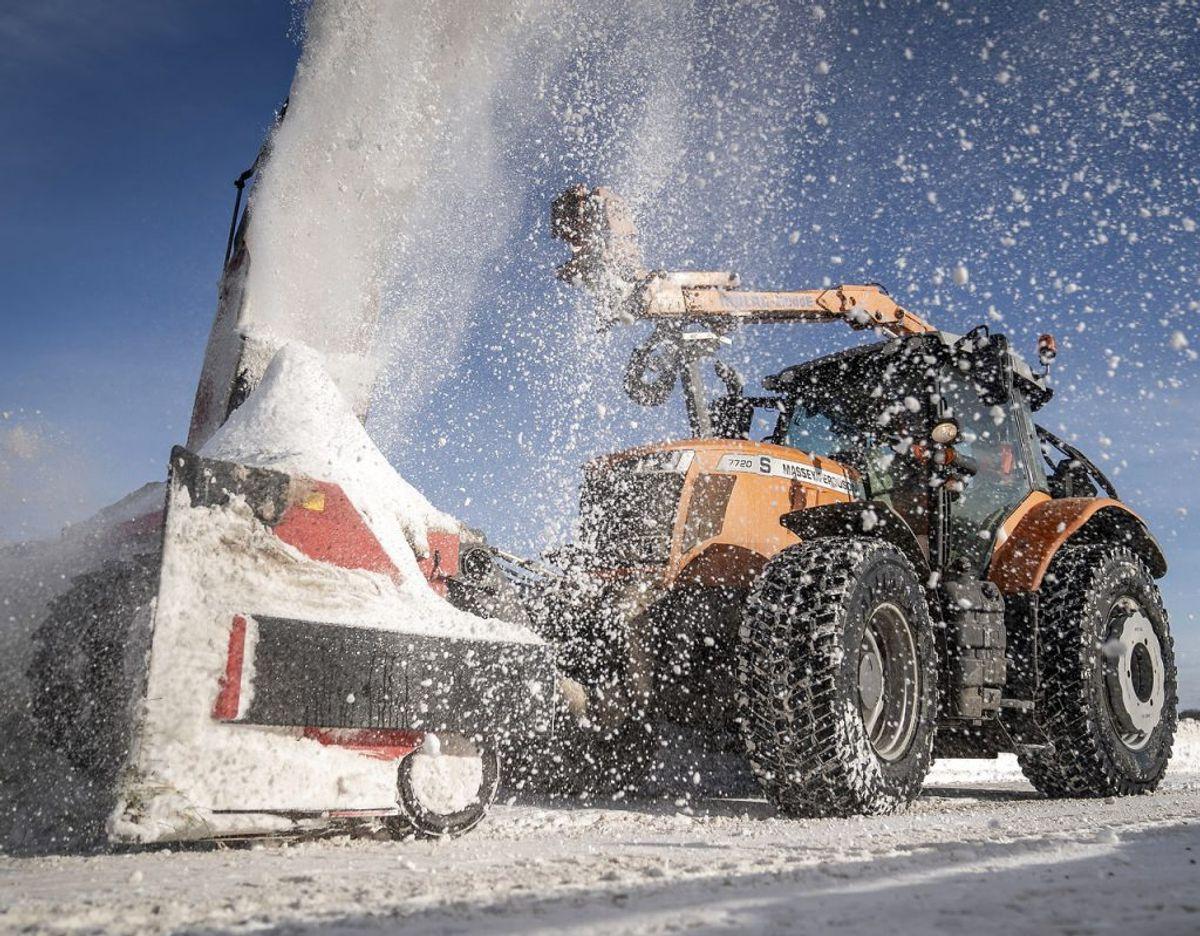DMI har varslet risiko for snestorm fra mandag formiddag – og det kan gå hen og blive rigtig 'bøvlet, lyder meldingen fra meteorologerne. Foto: Mads Claus Rasmussen/Ritzau Scanpix
