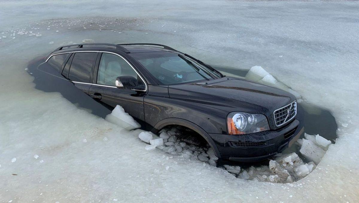 Hvordan ejeren vil forklare 'ulykken' over for sit forsikringsselskab kunne være interessant at vide. Foto: Syd- og Sønderjyllands Politi.