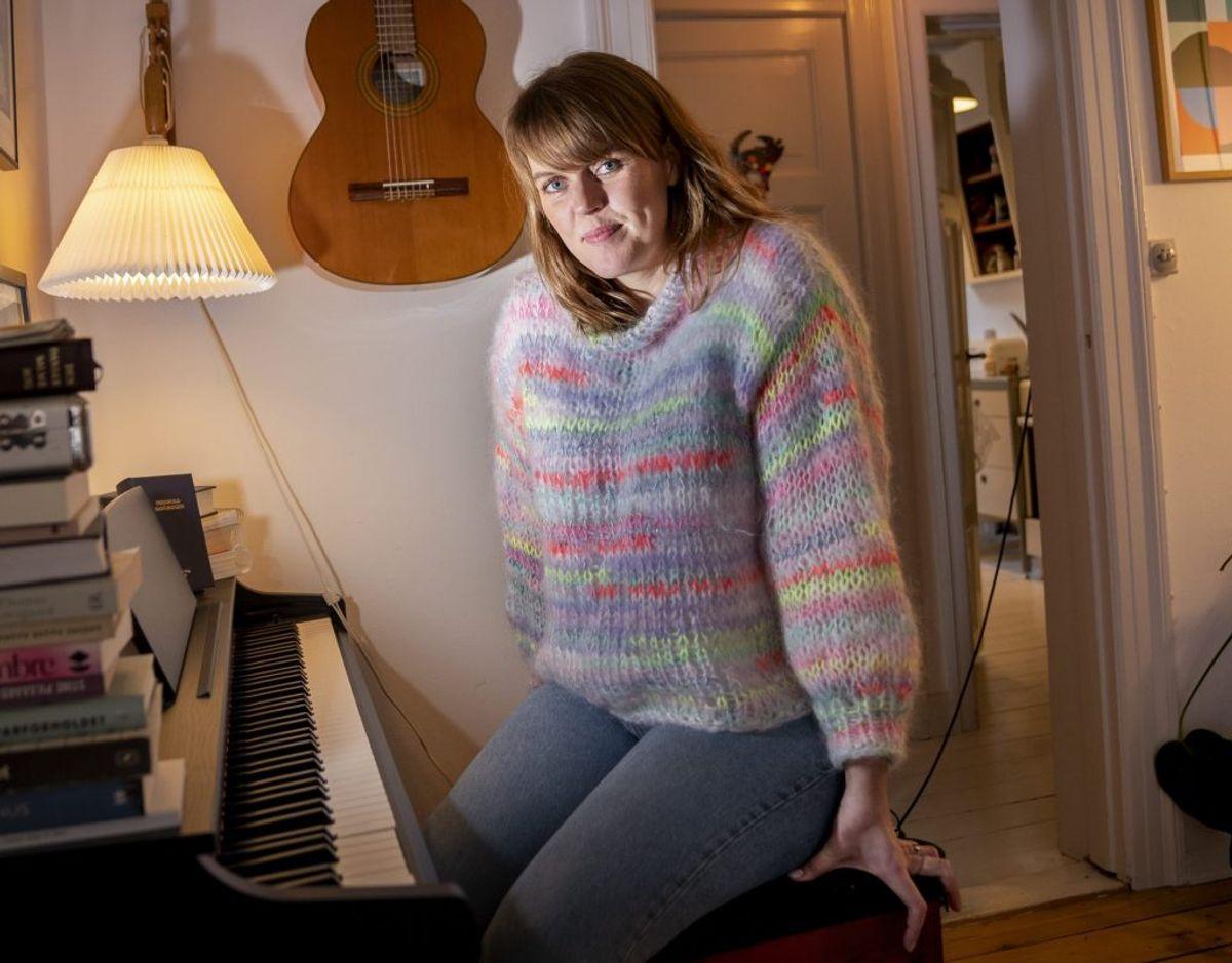 """Musik har altid været en del af Katrine Muff Enevoldsens liv. På sin folkeskole i Hillerød vandt hun skolens melodigrandprix i femte klasse. Hun sang """"Runaway"""" med rockbandet The Corrs. – Foto: Liselotte Sabroe/Ritzau Scanpix"""