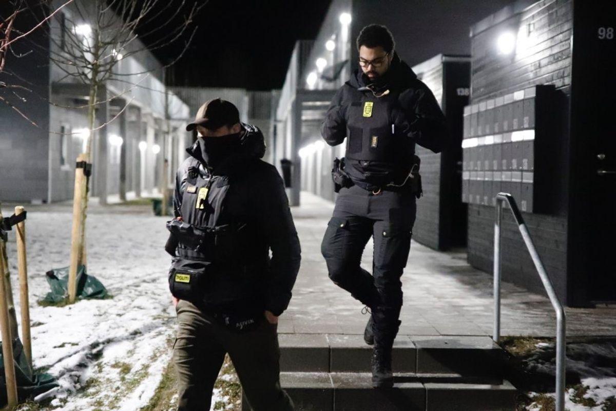 Klik videre for flere billeder fra politiets terroraktion. Foto: Presse-fotos.dk.