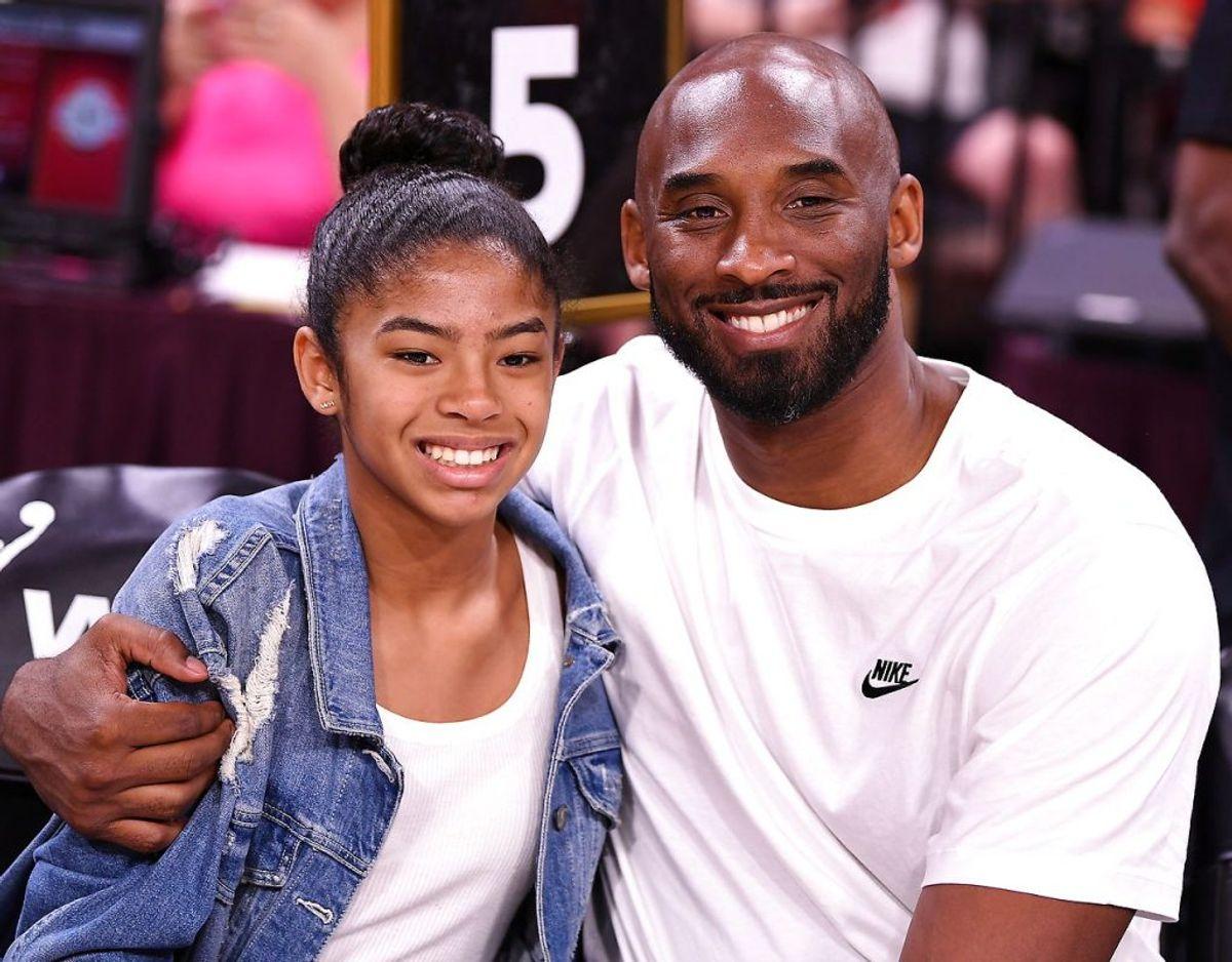 Kobe Bryant og datteren Gianna, der begge omkom ved et tragisk helikopterstyr i januar 2020. Foto: Scanpix/Stephen R. Sylvanie-USA TODAY Sports/File Photo