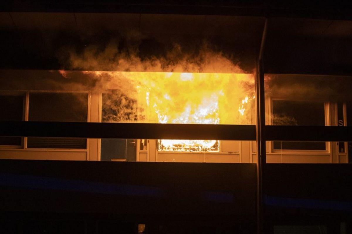 Der var voldsomme flammer, da manden vågnede. KLIK FOR FLERE BILLEDER. Foto: Rasmus Skaftved
