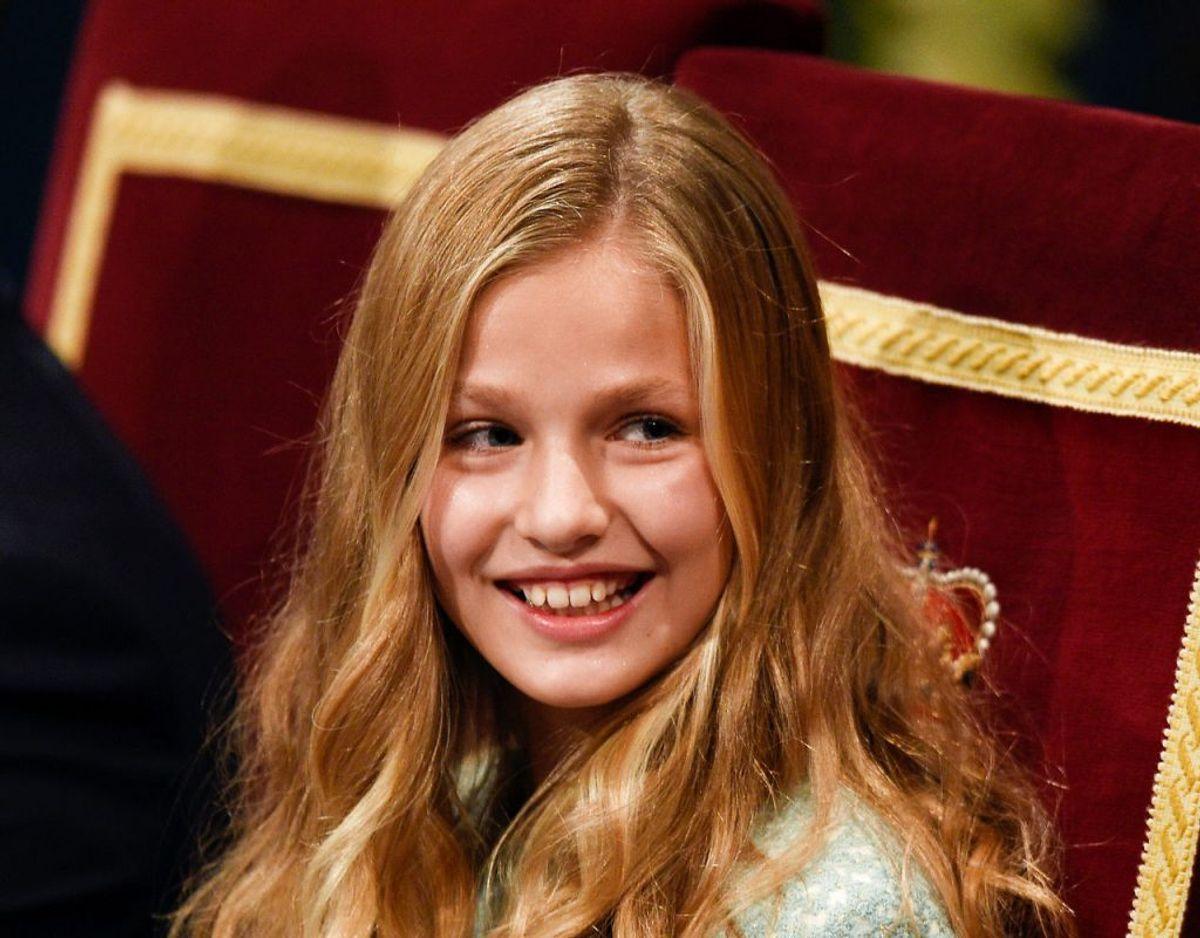 Spanske kronprinsesse Leonor, der den kommende sommer starter på en gymnasial uddannelse på en international skole i Wales. Klik videre for flere billeder. Foto: Scanpix/ REUTERS/Eloy Alonso
