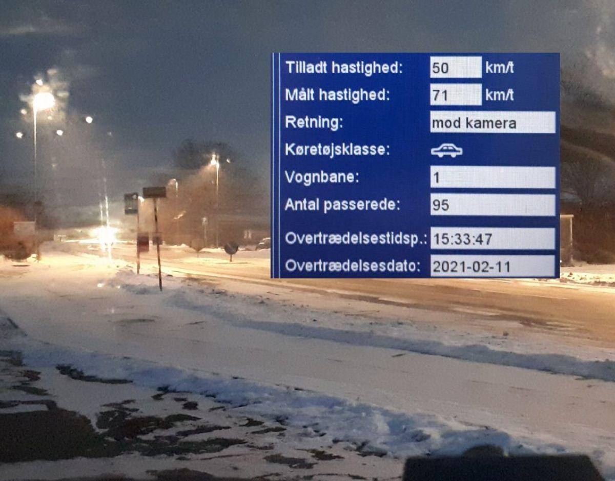 Som det fremgår af billedet var føret ikke skabt til høje hastigheder. Foto: Syd- og Sønderjyllands Politi.