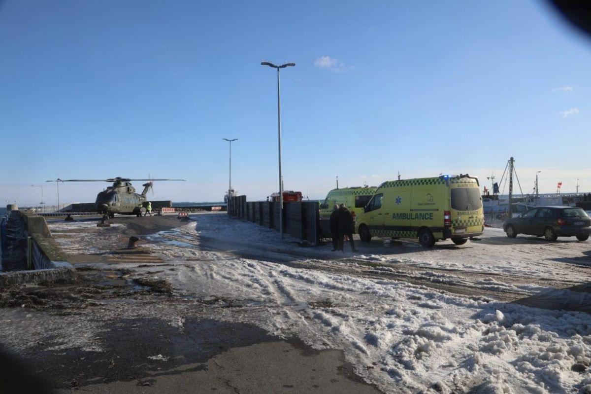 Stor redningsaktion ud for Langeland. KLIK FOR FLERE BILLEDER. Foto: Presse-fotos.dk