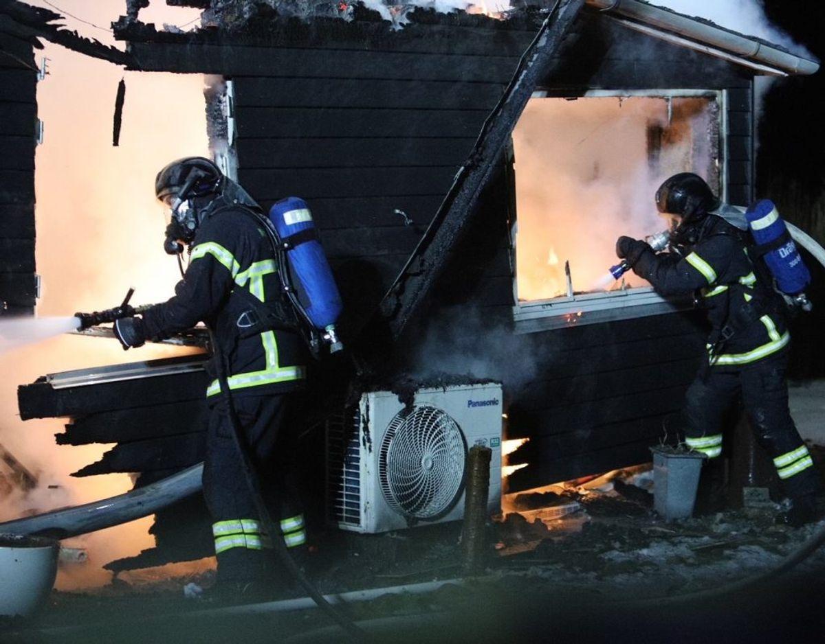 Brandårsagen er for nuværende ukendt. Foto: Presse-fotos.dk.