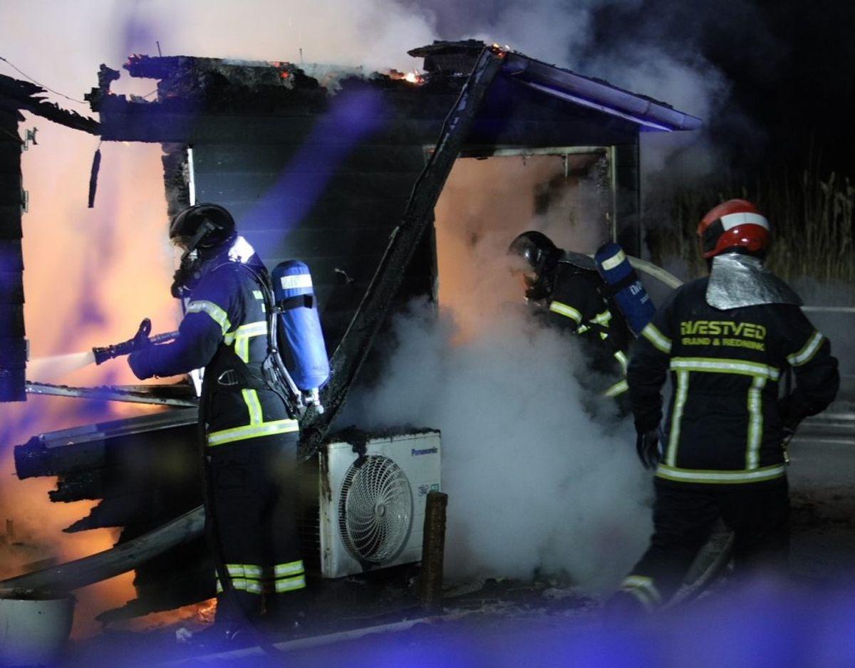 Politi og brandvæsen blev tilkaldt onsdag nat. Foto: Presse-fotos.dk. KLIK for mere.
