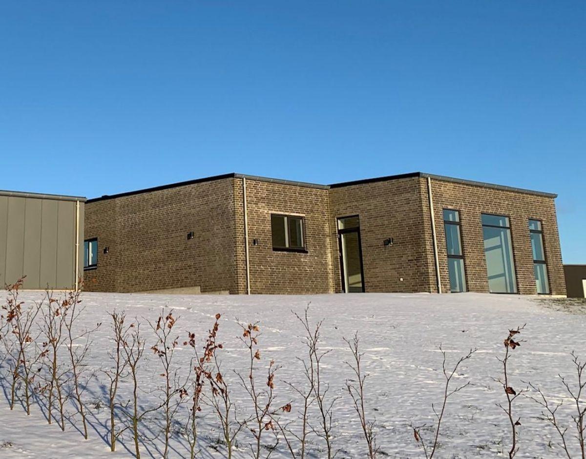 Den nybyggede og tomme præstebolig. Foto: Dorte Skou Vinther