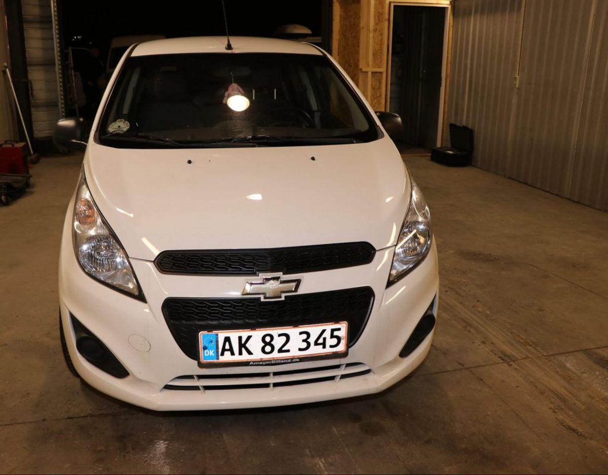 Nogle dage senere fandt en hundelufter hendes bil ved Bellahøj i København. En hvis Chevrolet Spark. Foto: Politi
