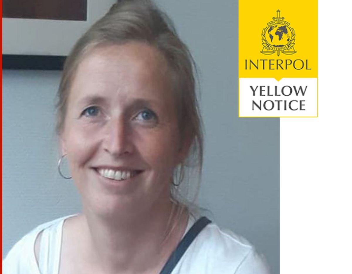 Interpol bringer blandt andet dette billede af Maria. Klik for mere om sagen.