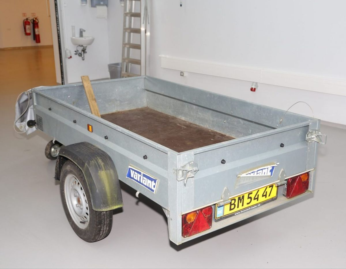 Det samme gælder denne trailer, som Baleoen muligvis har kørt med. Foto: Politi