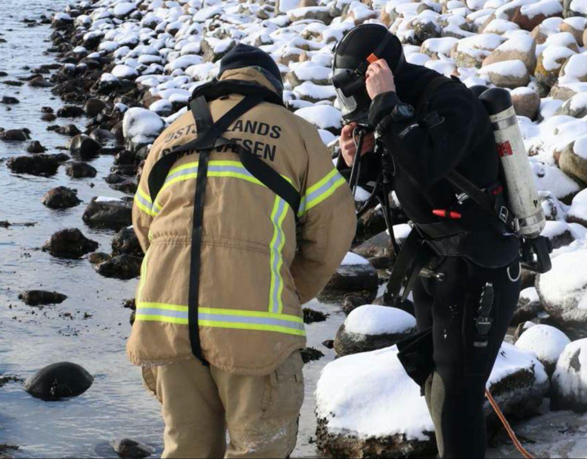 Dykkere fandt liget af den 61-årige mand. Foto: Øxenholt Foto