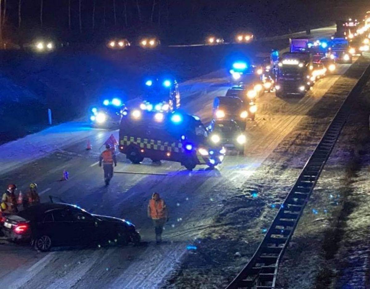 Uheldet skete tidligt onsdag morgen. Foto: Presse-fotos.dk.