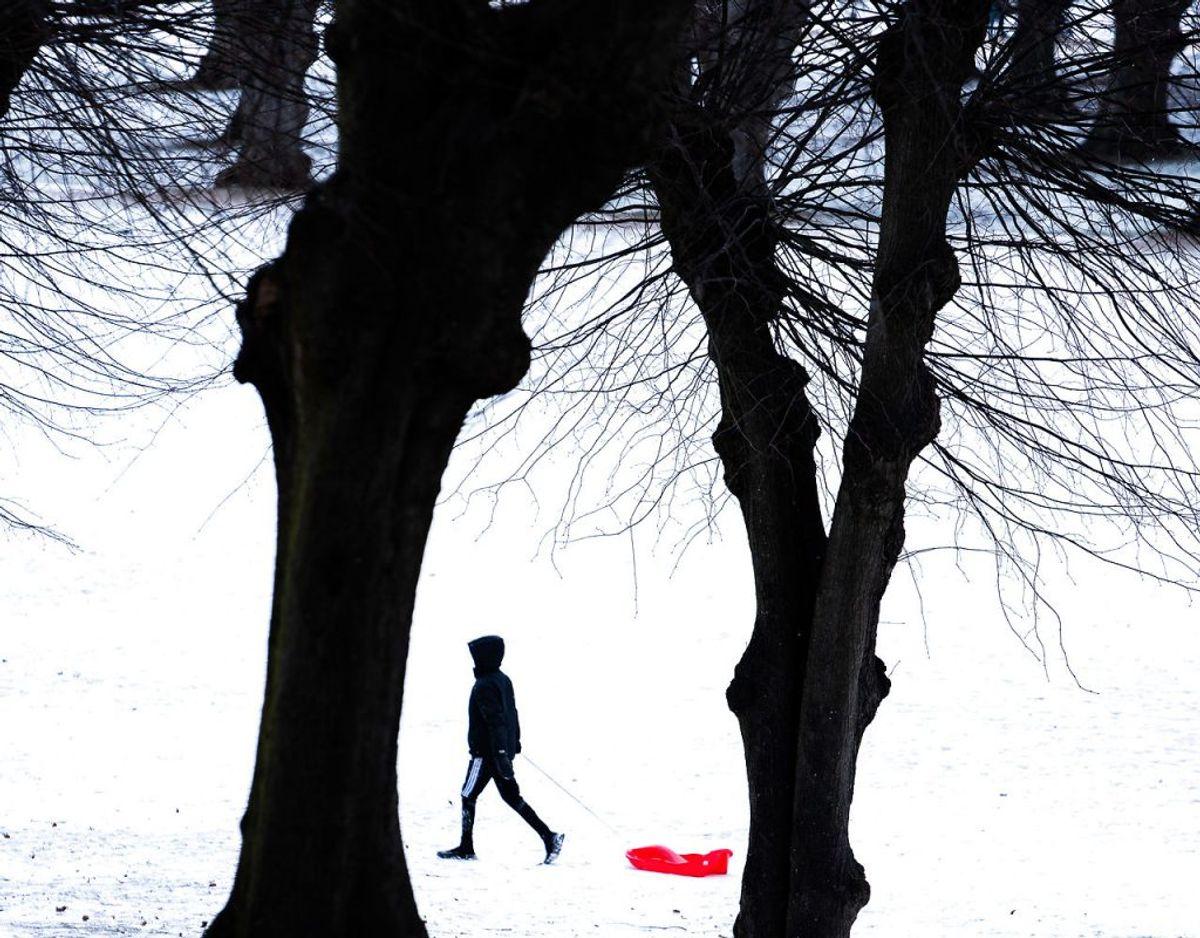 Sneen bliver liggende i Danmark den kommende tid. Foto: Emil Helms / Ritzau Scanpix