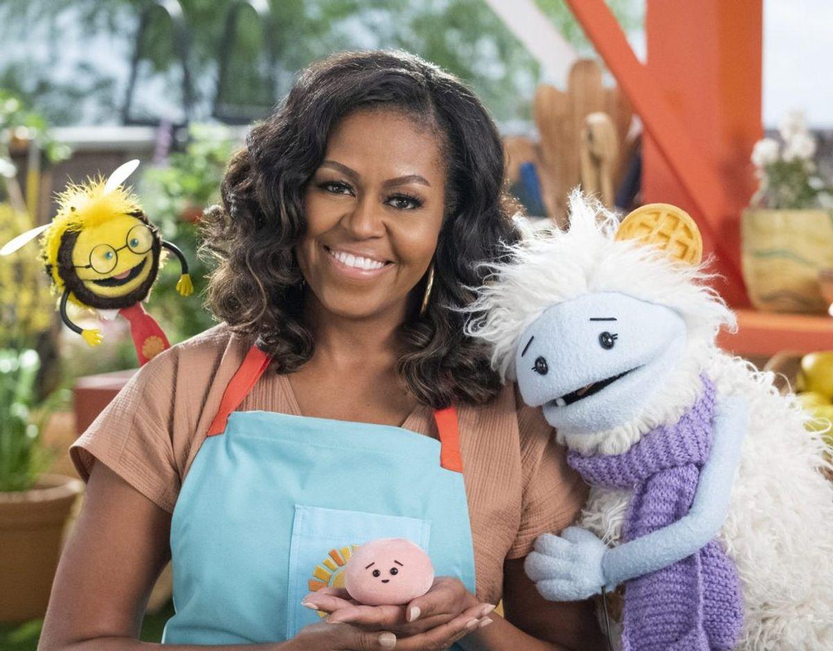 I sin tid som førstedame havde Michelle Obama børns sundhed som en af sine mærkesager. Hun beskriver tv-serien som en forlængelse af det arbejde. – Foto: ADAM ROSE/NETFLIX/Free